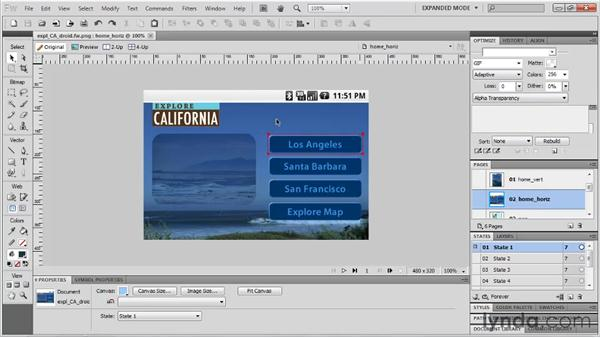 Previewing mobile designs in Device Central: Fireworks CS5: Rapid Prototyping