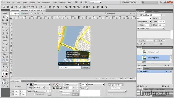Customizing a mobile design template: Fireworks CS5: Rapid Prototyping