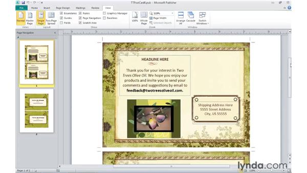 Zooming and panning a publication: Publisher 2010 Essential Training