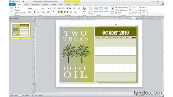 Working with text in tables: Publisher 2010 Essential Training