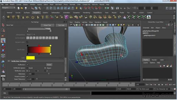 Making the shoes: Modeling a Character in Maya