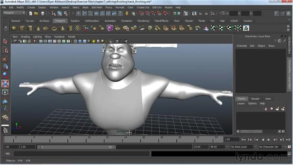 Putting on the finishing touches: Modeling a Character in Maya