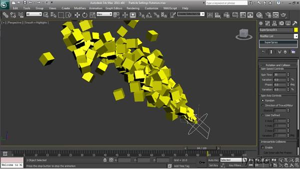 Making particles rotate: Particle Effects in 3ds Max