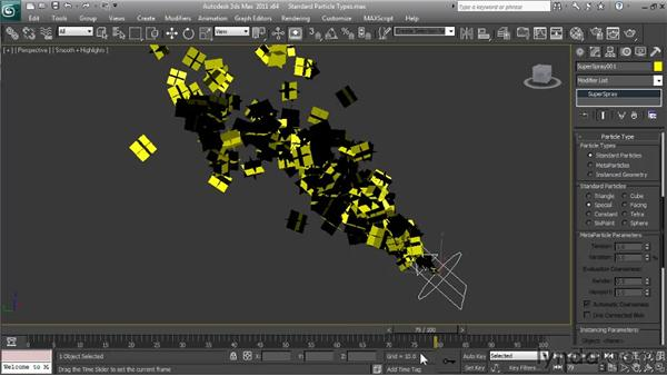 Exploring standard particle types: Particle Effects in 3ds Max