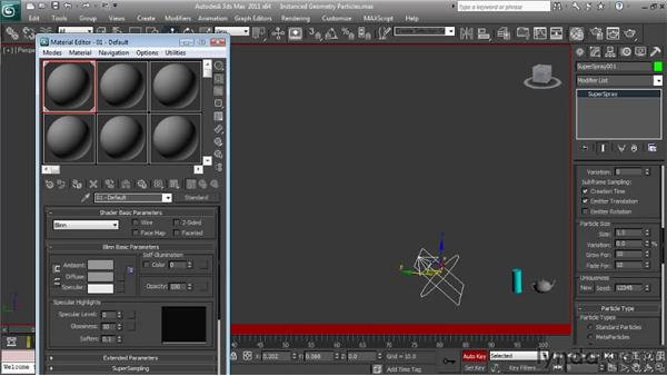 Using a scene object as a particle: Particle Effects in 3ds Max