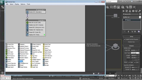 Working with operators: Particle Effects in 3ds Max