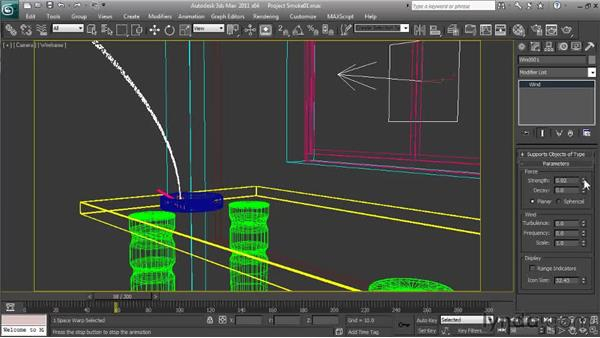 Adding wind: Particle Effects in 3ds Max