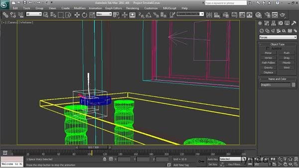 Dampening the particle movement: Particle Effects in 3ds Max