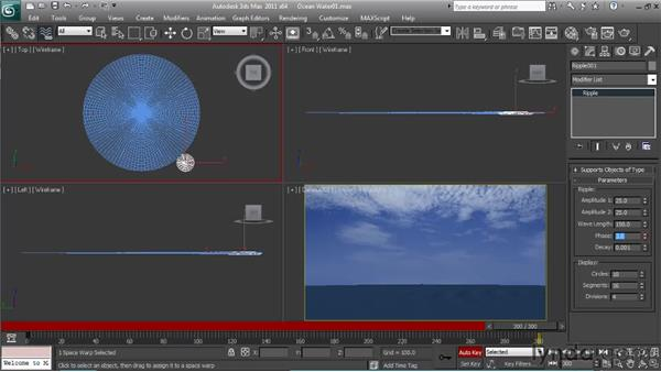 Creating water movement: Particle Effects in 3ds Max