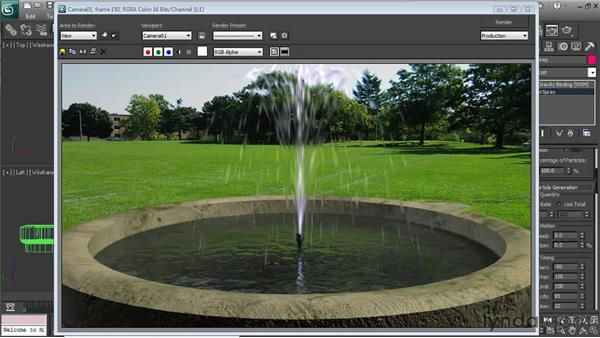 Making final adjustments : Particle Effects in 3ds Max