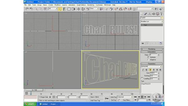 Adding the mudslide particle system: Particle Effects in 3ds Max