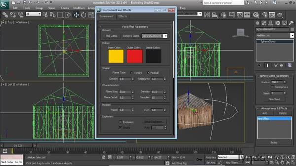 Creating the fire effect: Particle Effects in 3ds Max