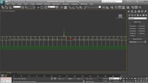 Adding the Collision Spawn Test and deflector: Particle Effects in 3ds Max