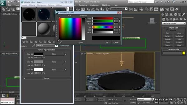 Creating the steam material: Particle Effects in 3ds Max