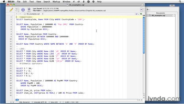 Using the exercise files: SQLite 3 with PHP Essential Training