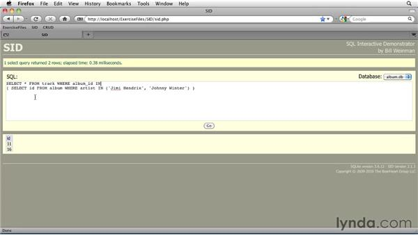 Reading data with SELECT: SQLite 3 with PHP Essential Training