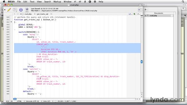 Using PHP to read from an SQLite database: SQLite 3 with PHP Essential Training