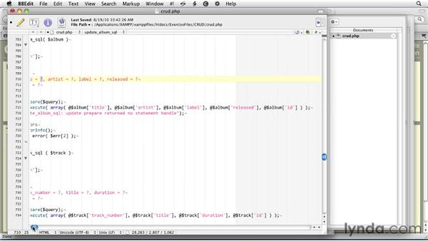 Using PHP to update an SQLite database: SQLite 3 with PHP Essential Training