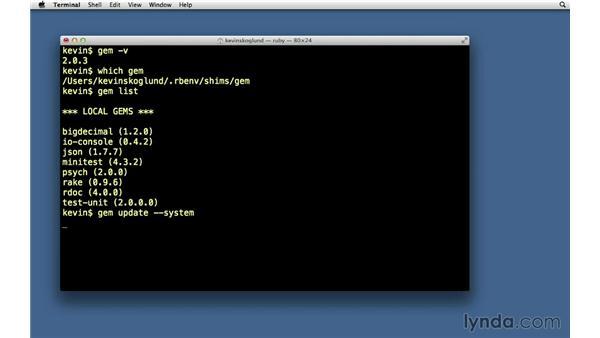 RubyGems: Ruby on Rails 3 Essential Training