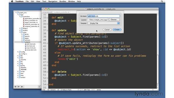 Delete actions: Delete/destroy: Ruby on Rails 3 Essential Training