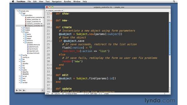 Flash hash: Ruby on Rails 3 Essential Training