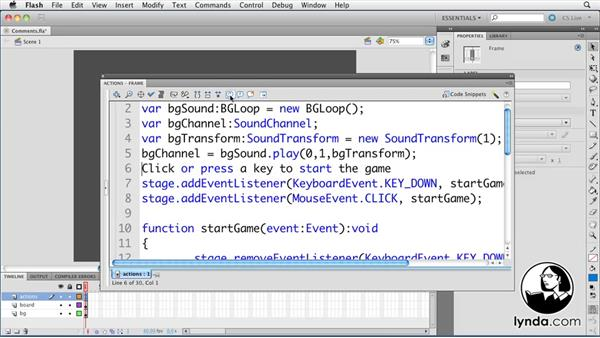 Welcome: ActionScript 3.0 in Flash Professional CS5 Essential Training