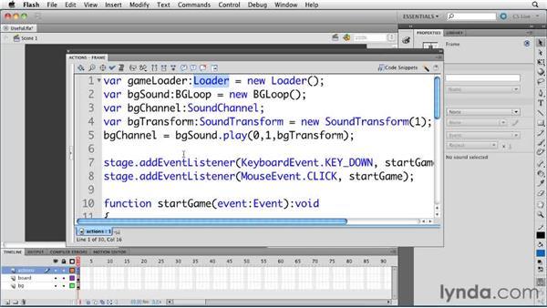 : ActionScript 3.0 in Flash Professional CS5 Essential Training
