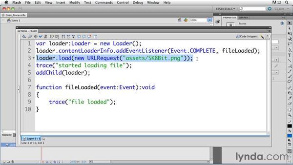 Understanding how ActionScript 3.0 code is processed in the Flash Player : ActionScript 3.0 in Flash Professional CS5 Essential Training