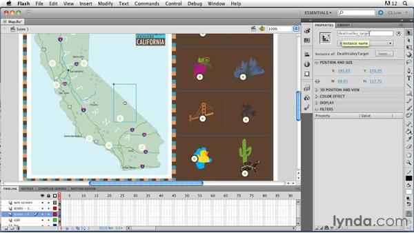 Viewing the FLA file: ActionScript 3.0 in Flash Professional CS5 Essential Training