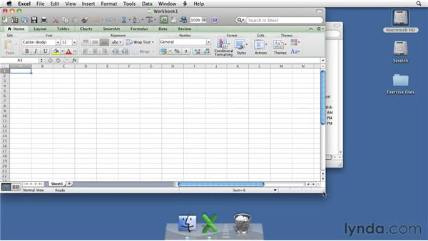 Exploring the Excel 2011 window: Excel for Mac 2011 Essential Training