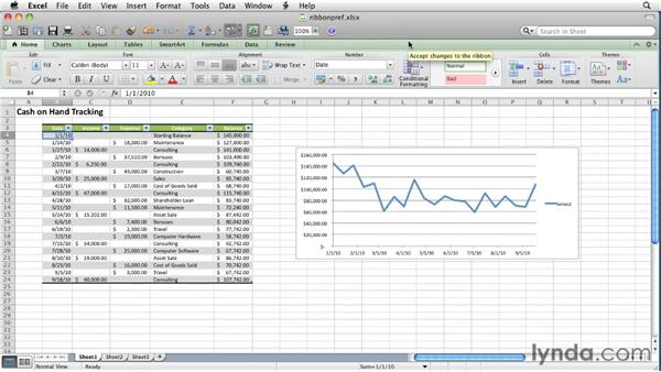 Customizing the Ribbon: Excel for Mac 2011 Essential Training