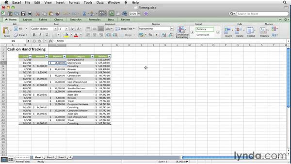 Opening, creating, and saving workbooks: Excel for Mac 2011 Essential Training