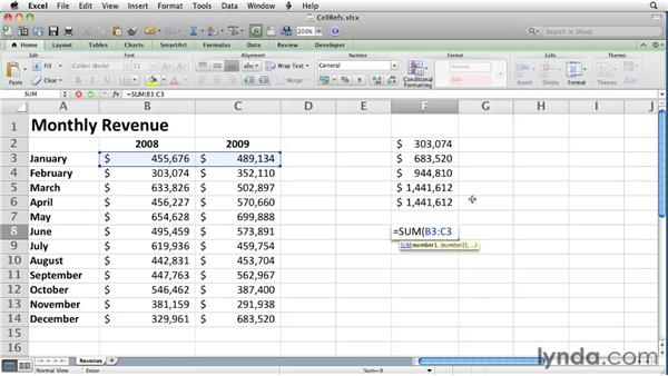 Using absolute and relative cell references   : Excel for Mac 2011 Essential Training