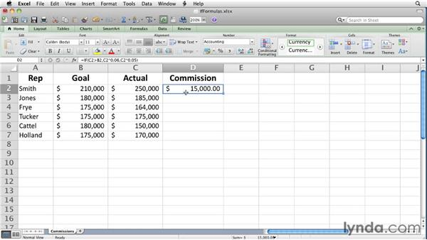 Summarizing data using an IF function: Excel for Mac 2011 Essential Training