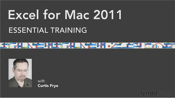 Additional resources: Excel for Mac 2011 Essential Training