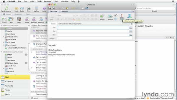 Working with priorities: Outlook for Mac 2011 Essential Training