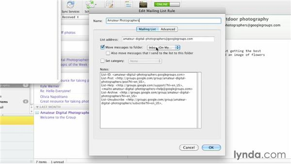 The Mailing List Manager: Outlook for Mac 2011 Essential Training