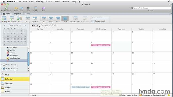 Creating recurring appointments: Outlook for Mac 2011 Essential Training