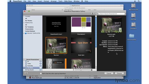 : PowerPoint for Mac 2011 Essential Training