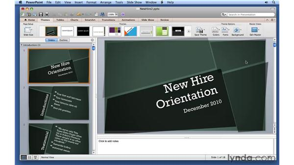 Creating your own themes: PowerPoint for Mac 2011 Essential Training