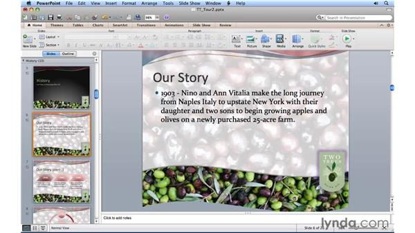 Finding synonyms, definitions, and translations: PowerPoint for Mac 2011 Essential Training