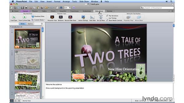 Using action buttons: PowerPoint for Mac 2011 Essential Training