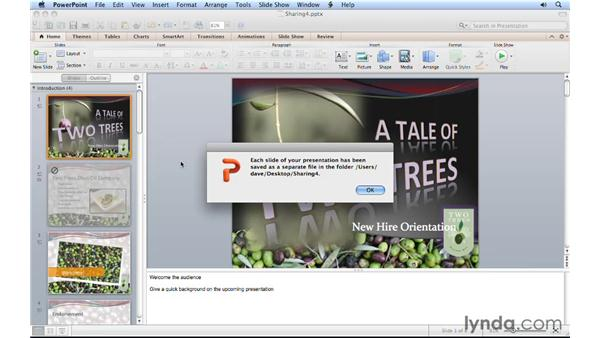 Creating PowerPoint pictures: PowerPoint for Mac 2011 Essential Training