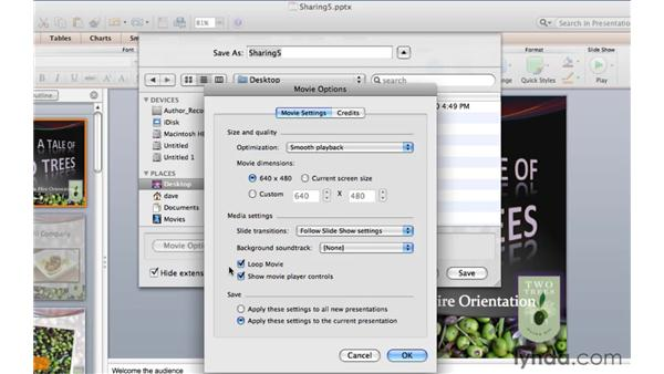 Creating a PowerPoint movie: PowerPoint for Mac 2011 Essential Training