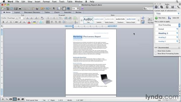 The Toolbox and the Media Browser: Word for Mac 2011 Essential Training