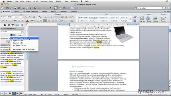 : Word for Mac 2011 Essential Training
