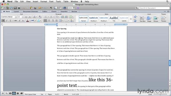Paragraph formatting basics: Word for Mac 2011 Essential Training