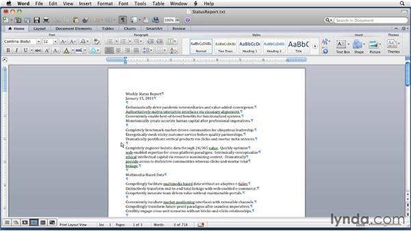 Using Word's Macro Recorder: Word for Mac 2011 Essential Training