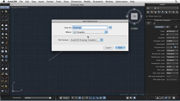 Configuring a new drawing: AutoCAD 2011: Migrating from Windows to Mac