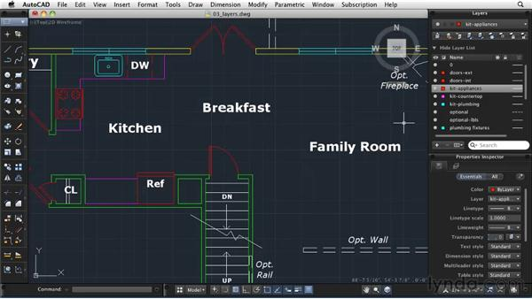 Creating and managing layers: AutoCAD 2011: Migrating from Windows to Mac